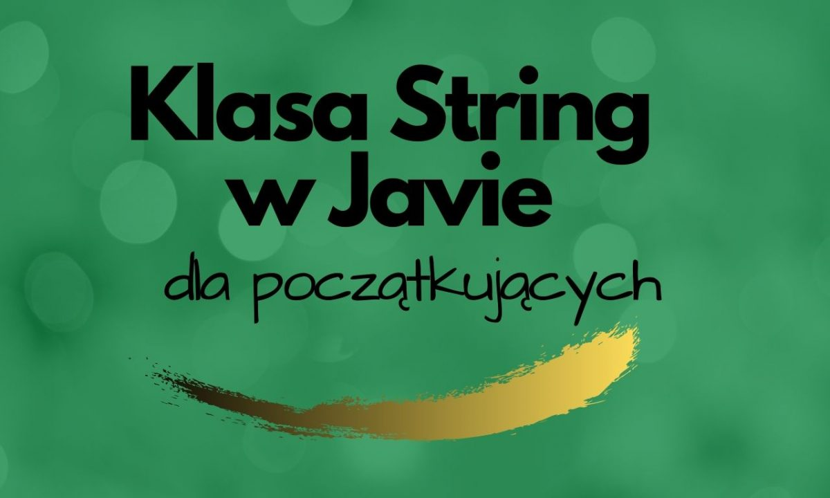 Klasa String w Java