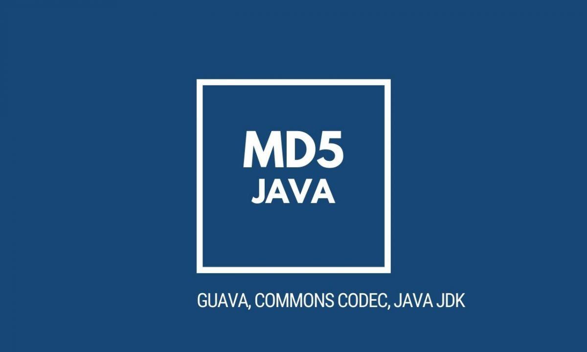Funkcja skrótu MD5 w Java